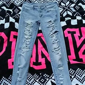 AMERICAN EAGLE Factory Destroyed Jeans Size 4
